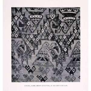 1930 Halftone Print Chimu Peru Textile Fabric Costume Moche