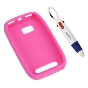 GTMax Hot Pink Soft Silicone Case + Pen with 4 Colors for