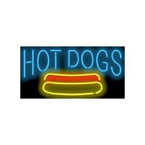 Hot Dog Neon Sign: Office Products