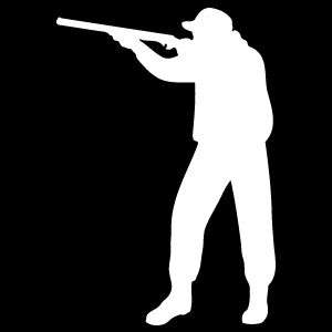 75 inch Hunter Hunting Man with rifle Decal/Sticker