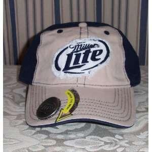 MILLER LITE Bottle Opener Logo Baseball Cap HAT Adult Size