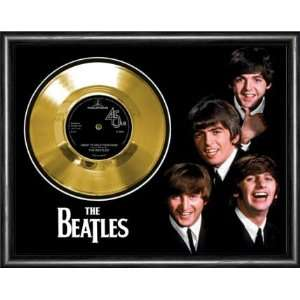 The Beatles I Want To Hold Your Hand Framed Gold Record