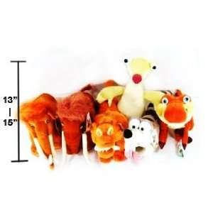 Ice Age 3 Dawn of the Dinosaurs 12   15 (6 Piece) Plush