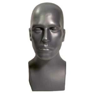 Male Tabletop Head Display Form Grey #50018G Everything
