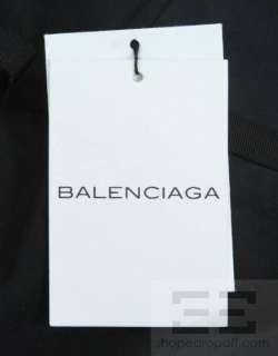 Balenciaga Pink & Green Floral Silk Satin Strapless Maxi Dress Size 38