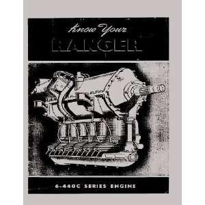 Ranger 6 440 Aircraft Engine Maintenance Manual Ranger Engines Books