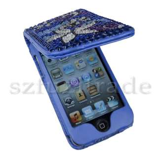 Wallet Leather Case Flip Cover For iPod Touch 4 Gen 4G 4th UK
