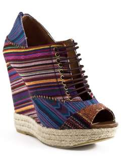 NEW CHINESE LAUNDRY MAKE MY DAY Multi Color Espadrille Wedge Heel