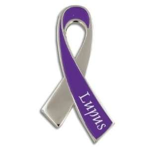 Lupus Awareness Ribbon Pin: Jewelry