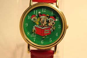 Its That Time Of The Year Disney Mickey Mouse Christmas Watch