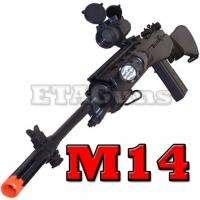 AGM Airsoft Black Heavy M14 Spring Bolt Action Sniper Rifle Gun M160B2