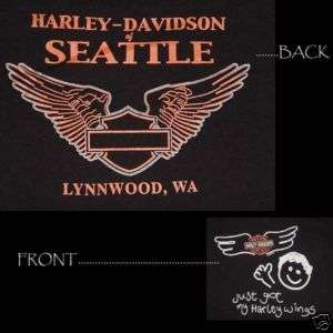 HARLEY DAVIDSON T SHIRT, SEATTLE   LYNNWOOD, WASHINGTON