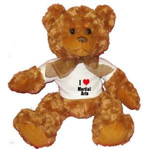 I Love/Heart Martial Arts Plush Teddy Bear with WHITE T