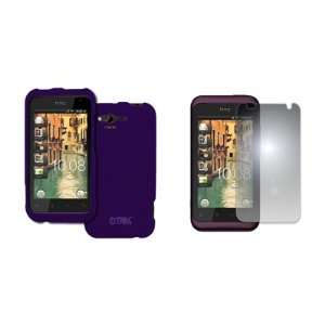 EMPIRE HTC Rhyme Purple Rubberized Hard Case Cover