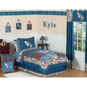 Surf Blue and Brown Full/Queen Bedding Collection