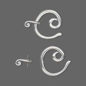 #9520 Clasp, JBB Findings, hook and eye, antiqued sterling