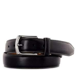 Johnston & Murphy Men Topstitched Leather Belt 75 61550