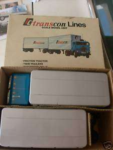 TC TRANSCON LINES JAPANESE TIN TRUCK AND TRAILERS MINT