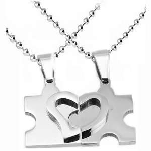 Stainless Steel Pendant Puzzle Design (Two Parts) with