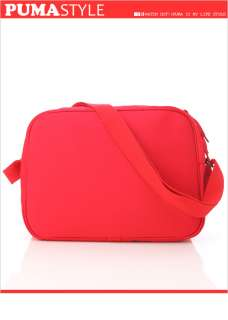 Brand New PUMA Canvas / Suede Shoulder Messenger Bag Red (06932402