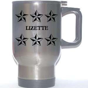 Personal Name Gift   LIZETTE Stainless Steel Mug (black