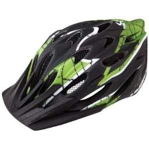 Limar 757 MTB Helmet, SM/MD, Matte Black/Green Sports