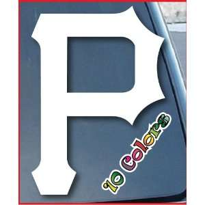 Pittsburgh Pirates Car Window Vinyl Decal Sticker 10 Tall