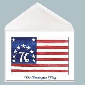 American Flag Greeting Card by Tamara Kapan