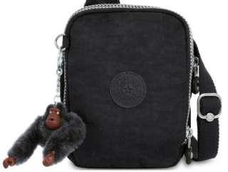 Kipling Escalor Small Shoulder / Travel / Cross Body Bag in Black NEW