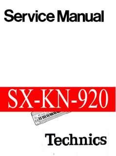 TECHNICS SX KN920 SXKN920 KN920 ~~ SERVICE MANUAL