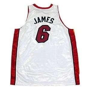LeBron James Unsigned Authentic Miami Heat White Jersey   NBA Jerseys