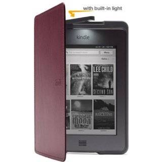 Kindle Touch Lighted Leather Cover, Wine Purple