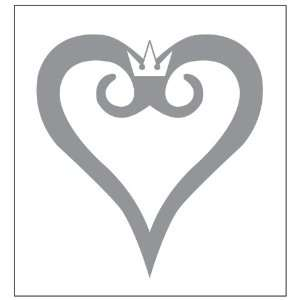 Kingdom Hearts Logo Decal Sticker. Peel and Stick Metallic Silver