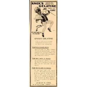 1899 Ad Knoxs Gelatin Cake Walk Black Americana RARE   Original Print