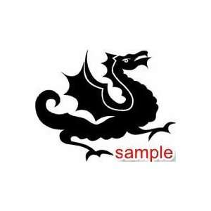 DRAGON AND MYTHICAL CELTIC DRAGON 10 WHITE VINYL DECAL
