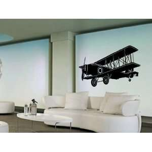 Vinyl Wall Decal Old School Airplane Art Design