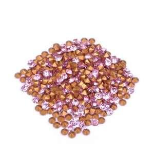 Gold Pink Gel Nail Art Diamond /Nail Art Products Fashionable Beauty