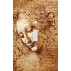 Leonardo Da Vinci Female Head Study Decorative Switchplate