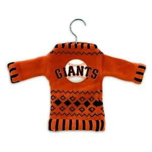 Pack of 4 MLB San Francisco Giants Sweater Christmas Ornaments on