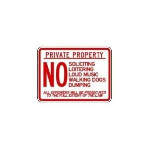 Safety Sign, Private Property, 18 X 24 In   3PMZ3