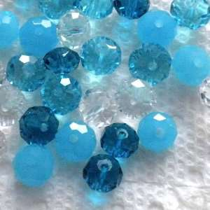 Crystal Rondelle Beads 8mmx6mm ~Jewelry Making~ Arts, Crafts & Sewing
