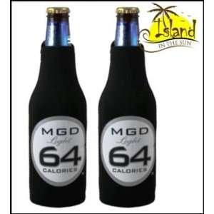(2) Miller Genuine Draft 64 MGD Beer Bottle Koozies