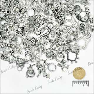 50g tibetan silver mixs pendant spacer caps DIY jewelry finding