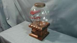 Rare Miller High Life Vintage Peanut, Gum, and Candy Dispenser Vending