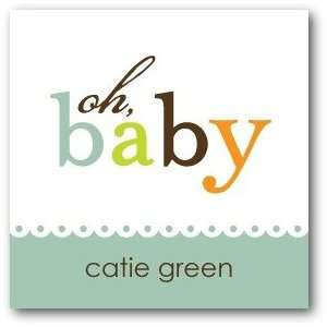 Custom Gift Tag Stickers   Baby Charm Basil By Ann Kelle