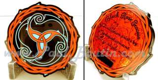 Black Rose Vine Thorn Tribal RED Version Icon   Geocoin