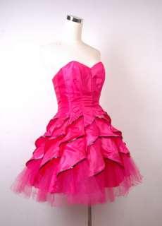 Betsey Johnson Evening Dahila Strapless Dress 6 Pink