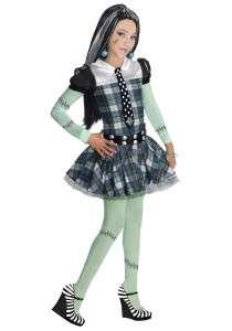 GIRLS MONSTER HIGH FRANKIE STEIN COSTUME DRESS RU884786
