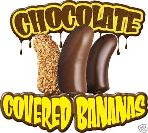 Chocolate Covered Bananas Concession Decal 14 Food