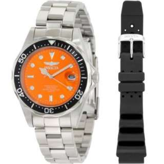 Invicta Mens 10665 Pro Diver Collection Bracelet and Rubber Watch Set